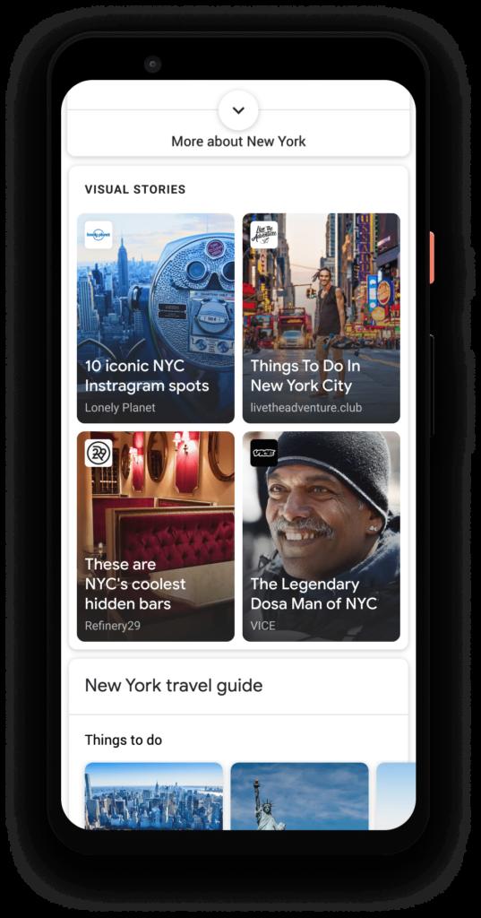 Sådan vil Web Stories blive vist i Google Search