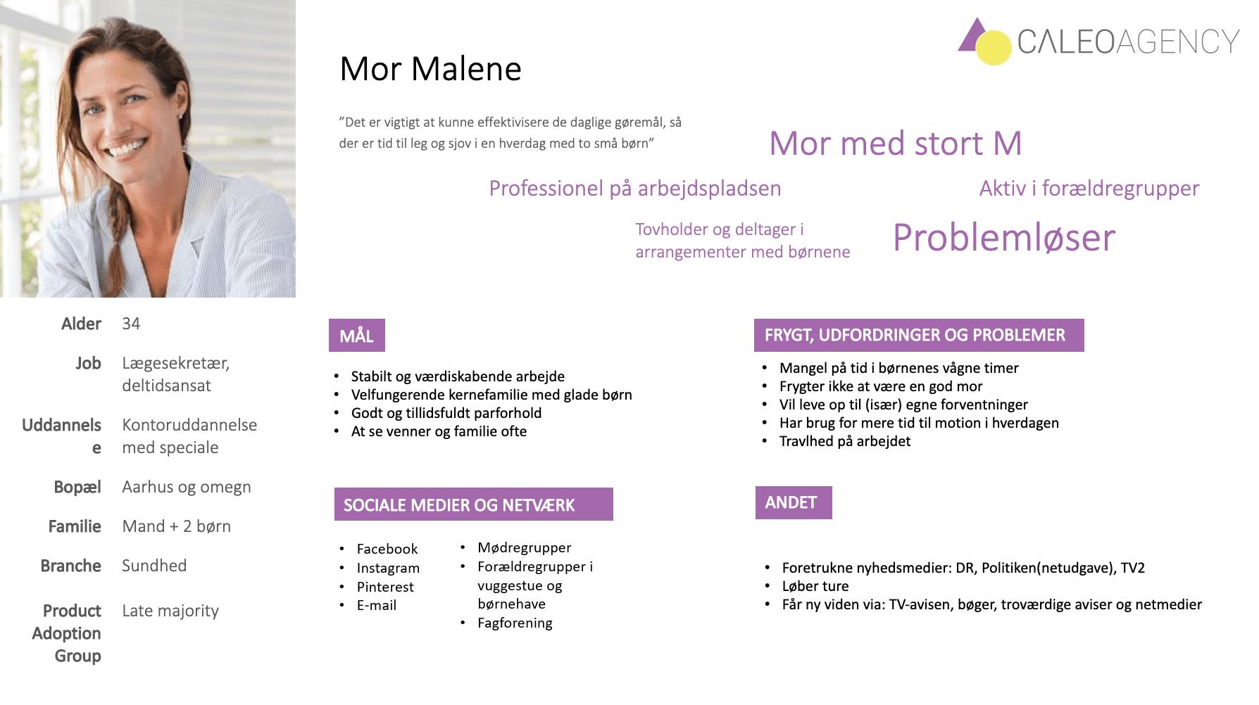 Buyer persona eksempel - Mor Malene